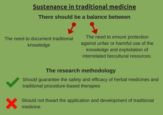 Sustenance in traditional medicine