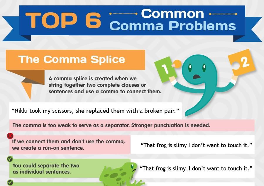 연구 논문 작성을 위한 올바른 콤마 사용법 6가지